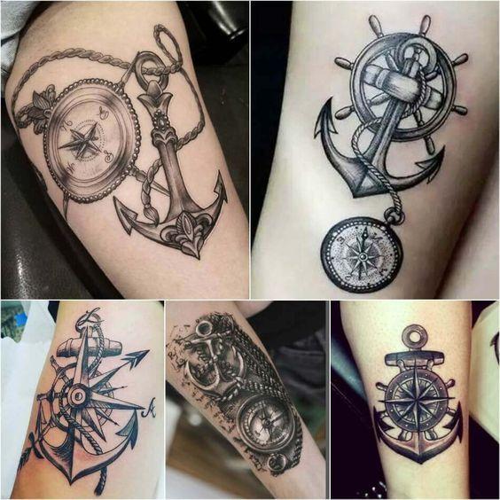 Tatuajes De Brujulas Estilos Mujer Hombre 239 Fotos Tatuajes De Anclas Tatuaje De Ancla Hombres Tatuaje De Flecha Y Brujula