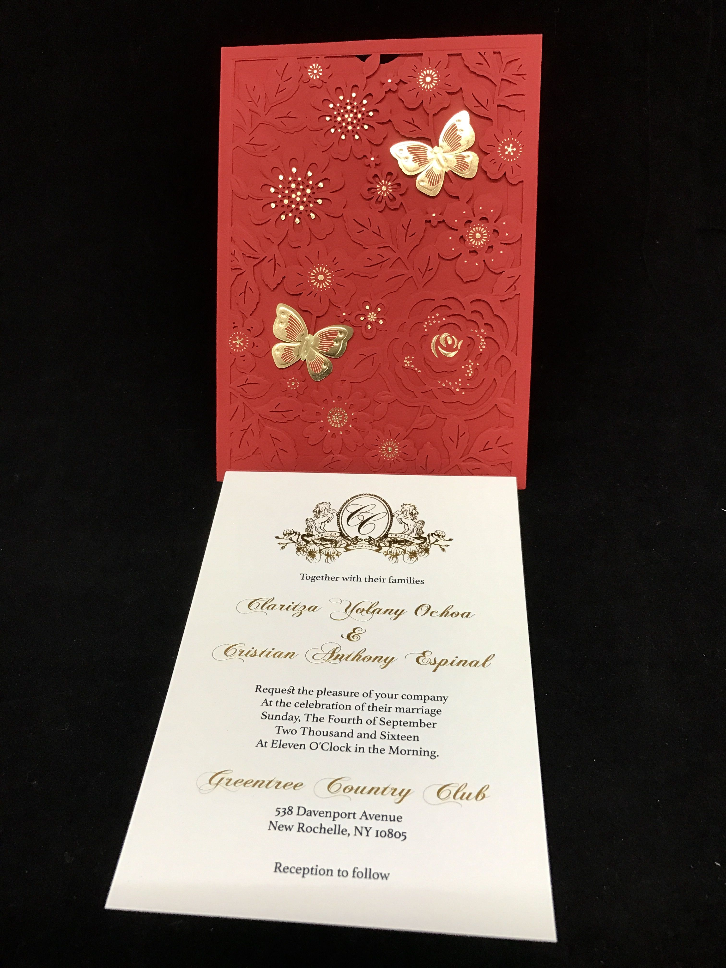 Wedding invitations in NYC Custom wedding & event invitations, foil ...