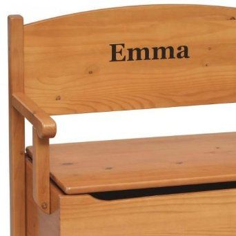 Personalized wooden bench with toy box personalized baby gifts personalized wooden bench with toy box personalized baby giftswooden negle Images