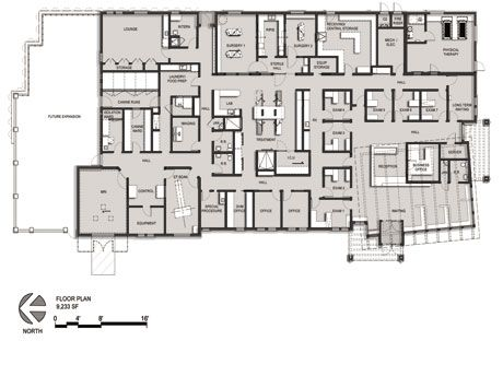 Veterinary Hospital Floor Plan Animal Neurology Rehab And Er Center Commerce Mich Dvm360 Hospital Design Pet Clinic Veterinary