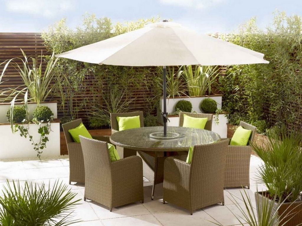 Outdoor Patio Dining Sets With Furniture Umbrella