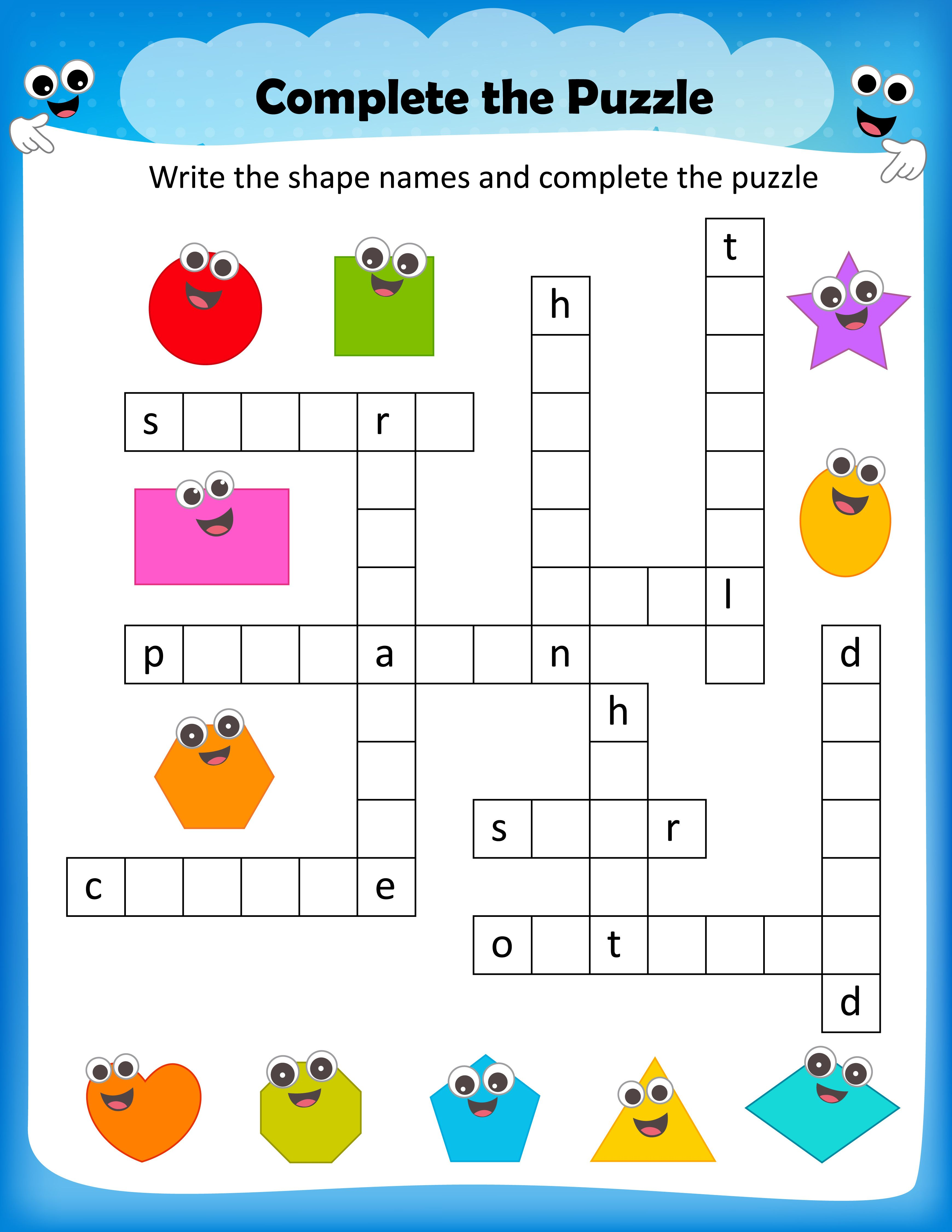 Recycling Crossword Puzzle Printable In