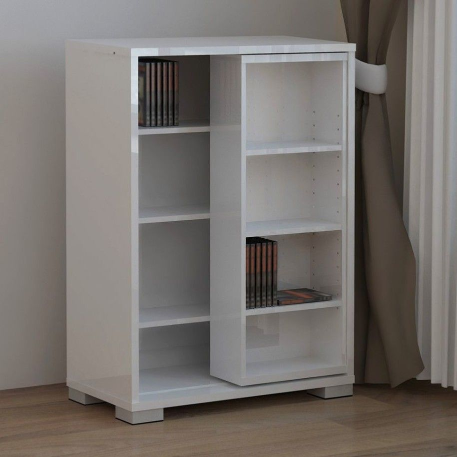 Unique And Modern Dvd Storage Ideas White Simple