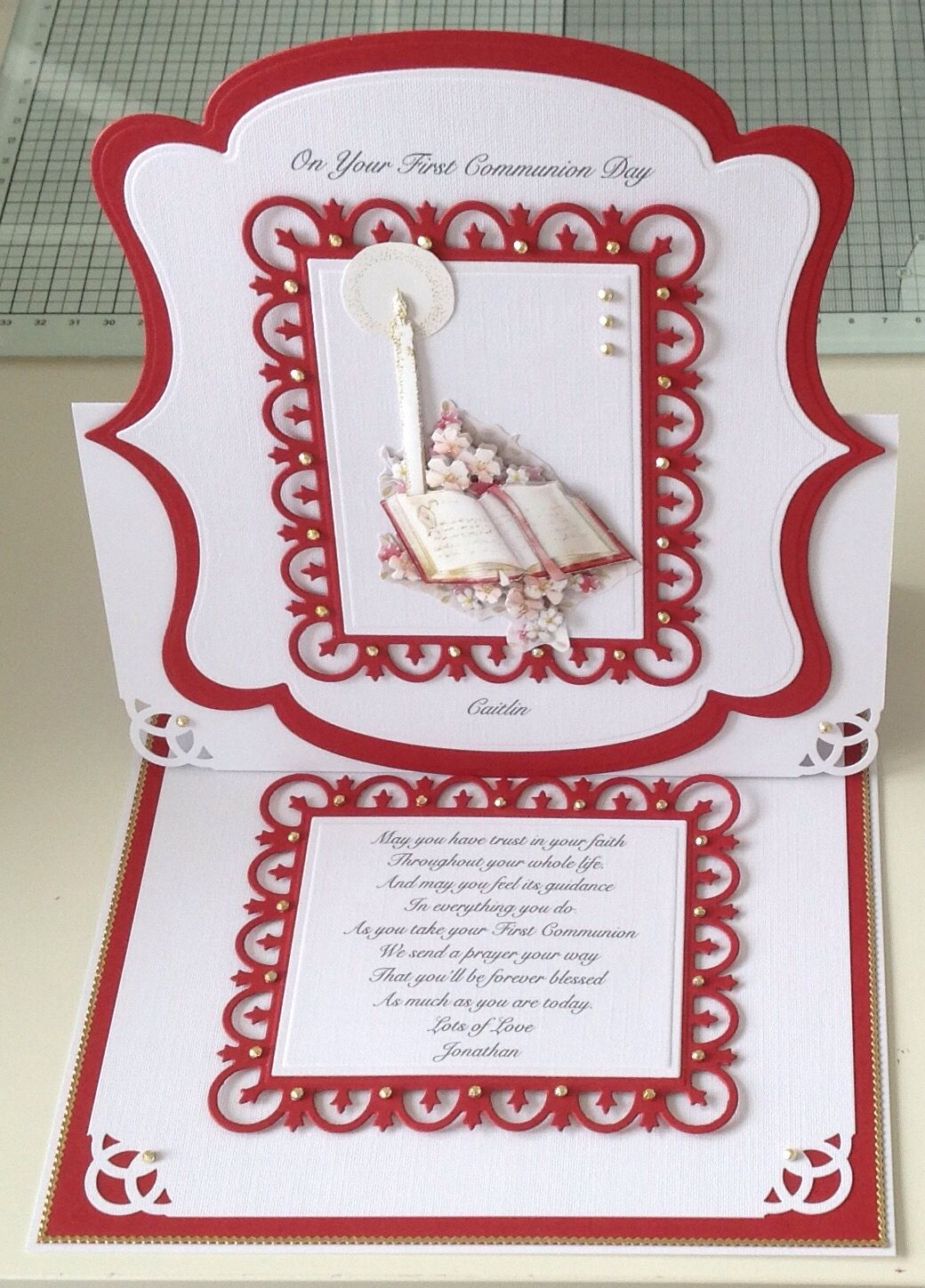 First communion card first communion cards easel cards