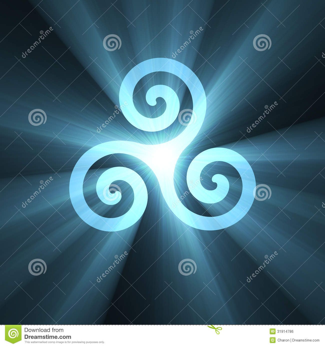 Triskelion Spiral Symbol Light Flare - Download From Over 53 Million High Quality Stock Photos, Images, Vectors. Sign up for FREE today. Image: 31914786