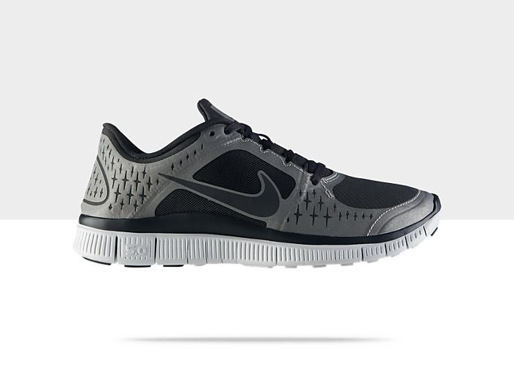 HAVE: Nike Free Run 3 Shield Women\u0027s Running Shoe:  Anthracite/Anthracite-Reflective Silver-Pure Platinum, Style - Color #