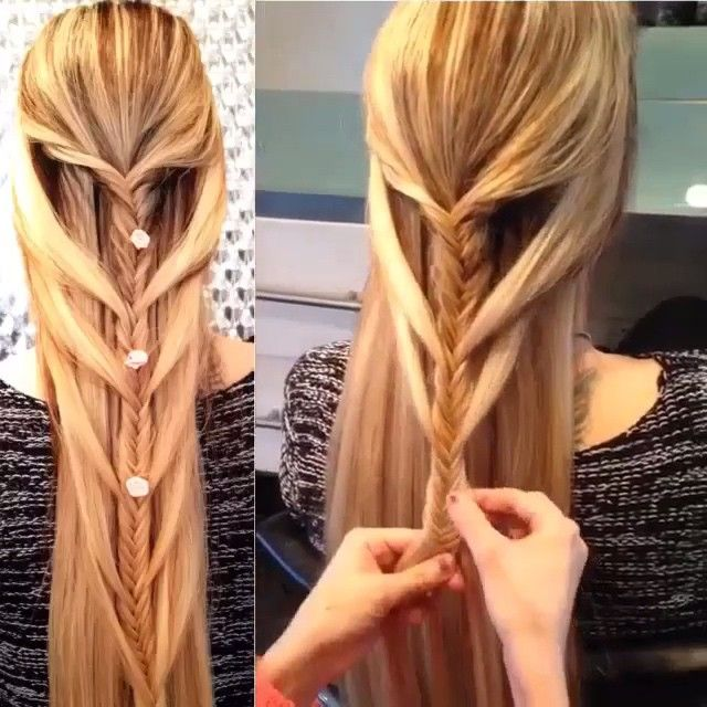Cascading french fishtail braid tutorial By: @helinhair