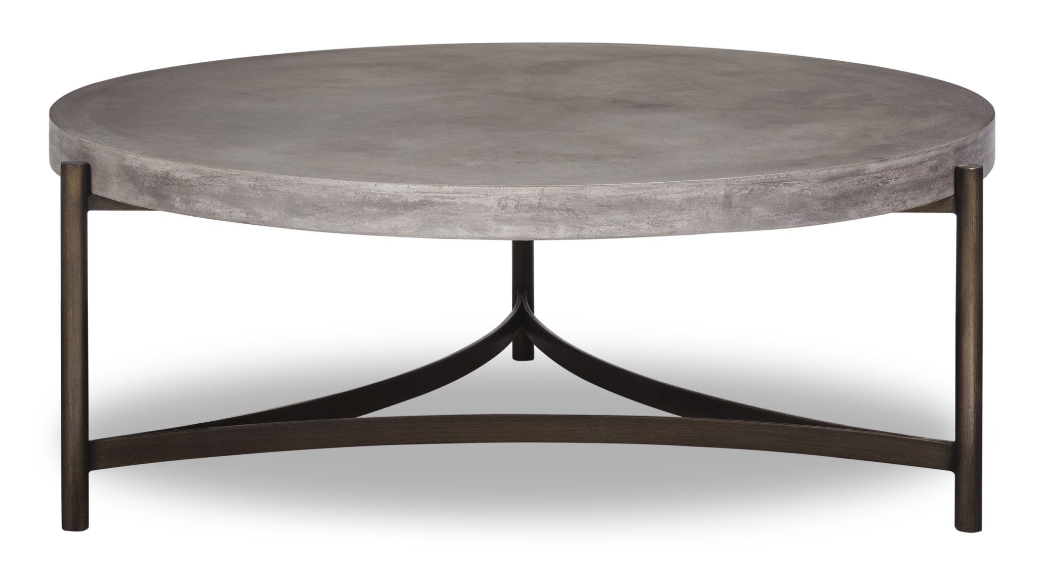Washington round coffee table tripod concrete and coffee washington round coffee table geotapseo Images