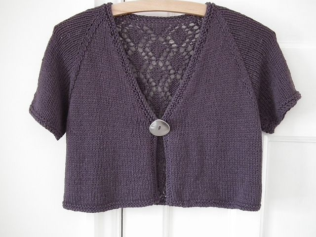This Little Topper Is A Simple Top Down Raglan With A Pretty Lace