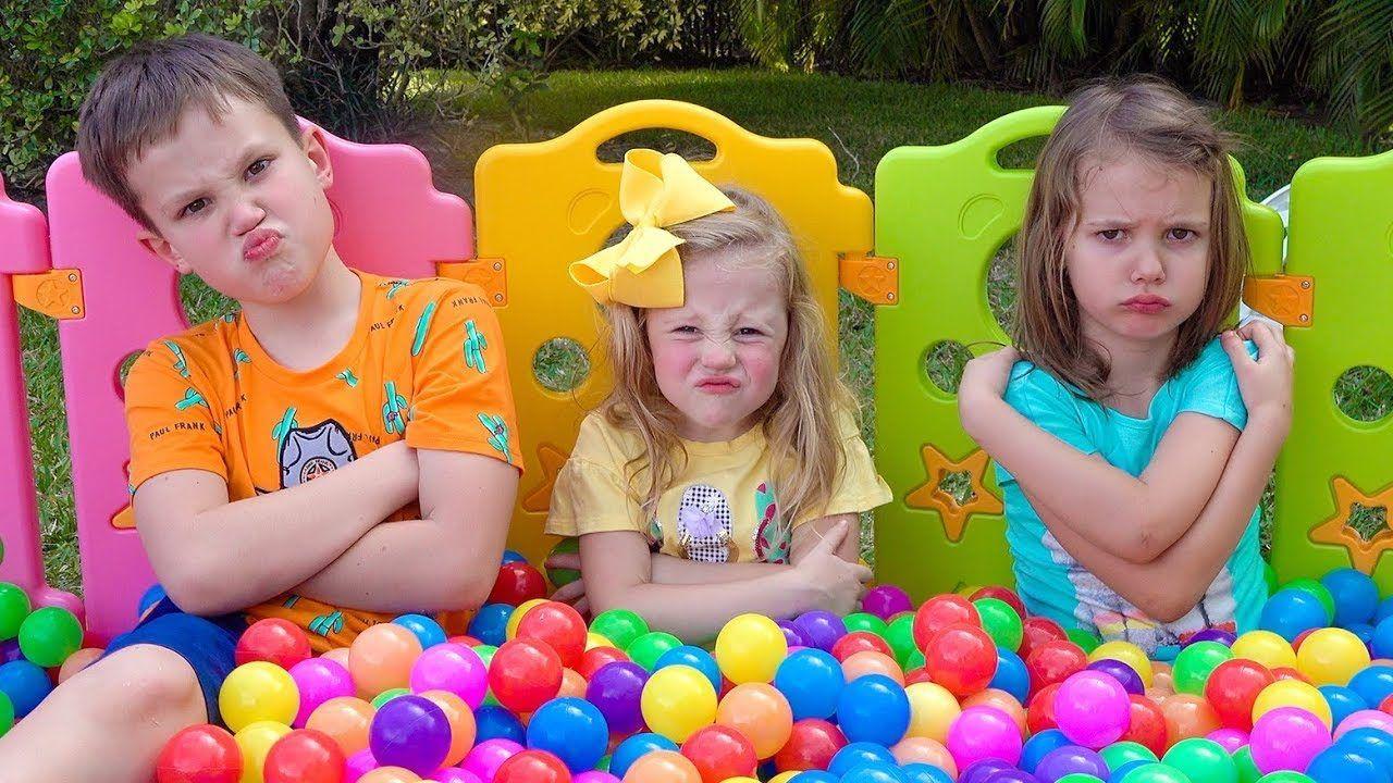 Nastya Katya I Maks Igrayut Vmeste Rhymes For Kids Baby Songs Kids Songs