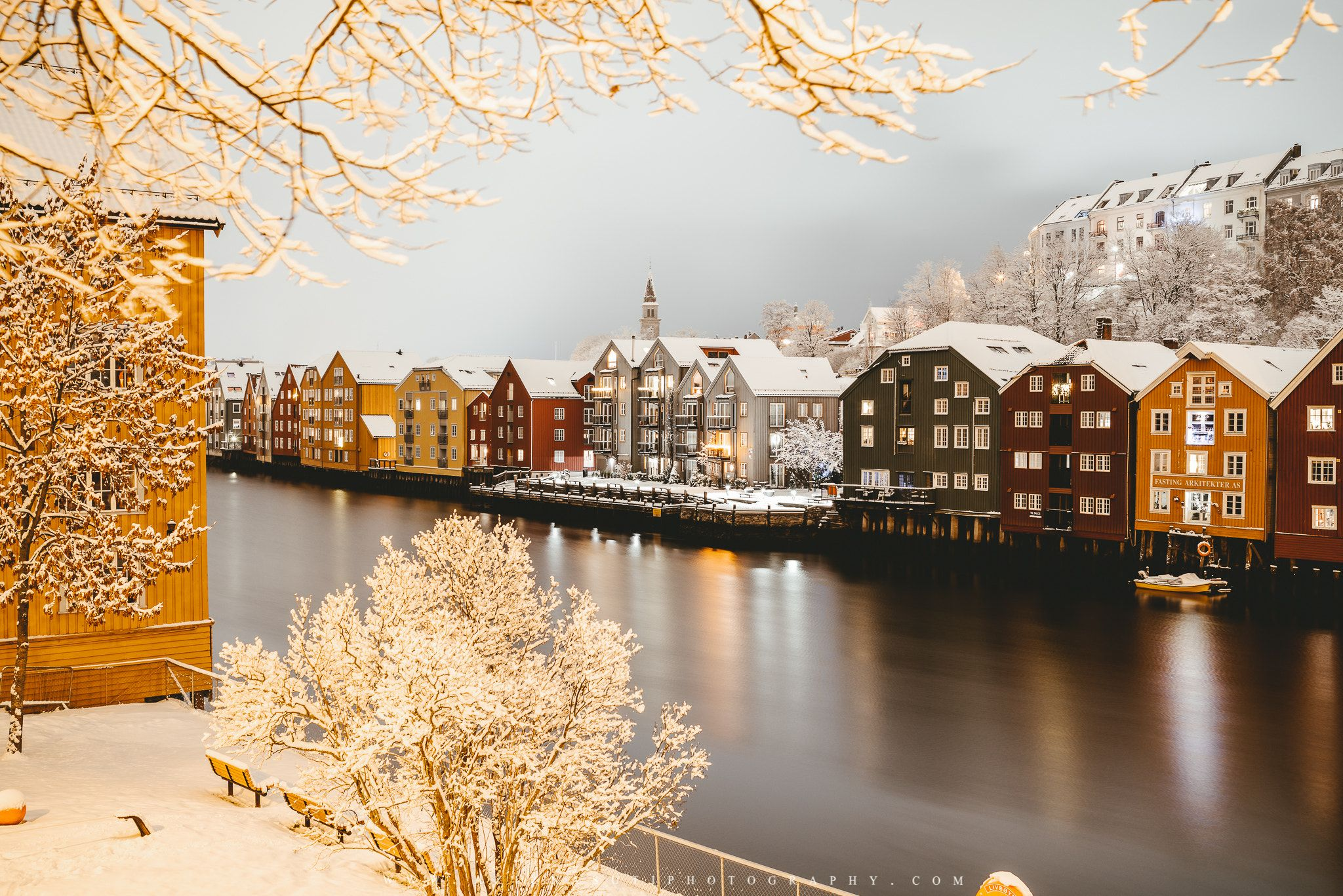 Beautiful Wintermood of Trondheim - www.aziznasutiphotography.com