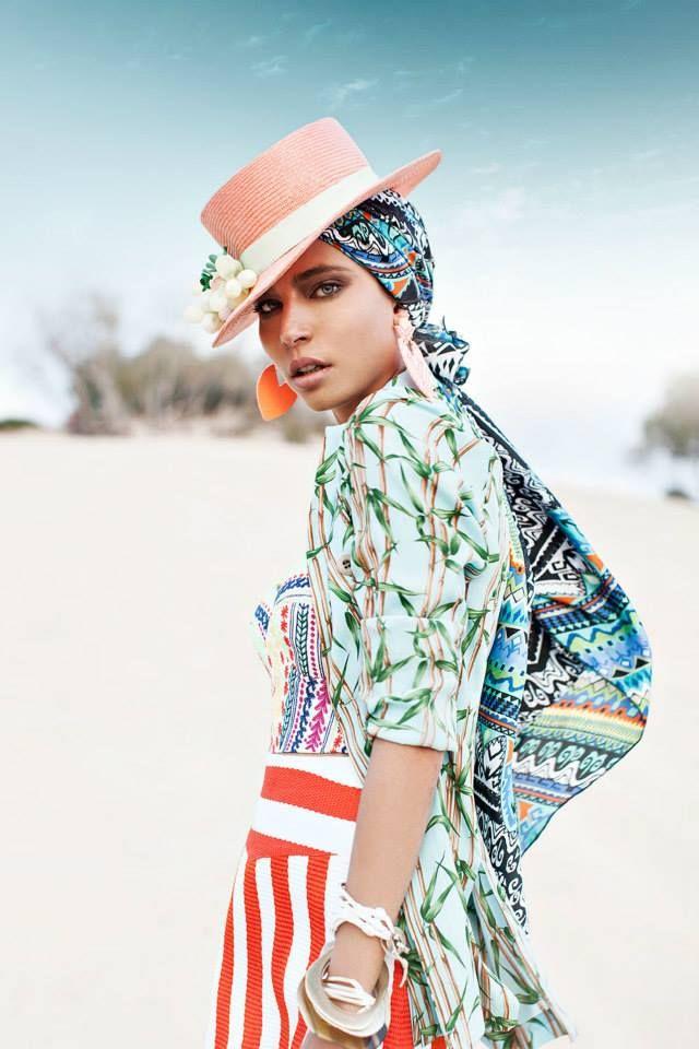 Skirt- Moschino Corset- Mara Hoffman Jacket- Coast Weber & Ahaus Earrings- H Bracelets- TwoA Hat- Tami Bar-Lev