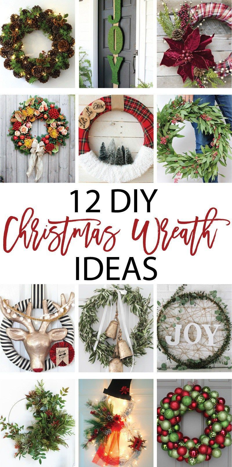 12 DIY Christmas Wreath Ideas on Love the Day | Imagenes navideñas ...
