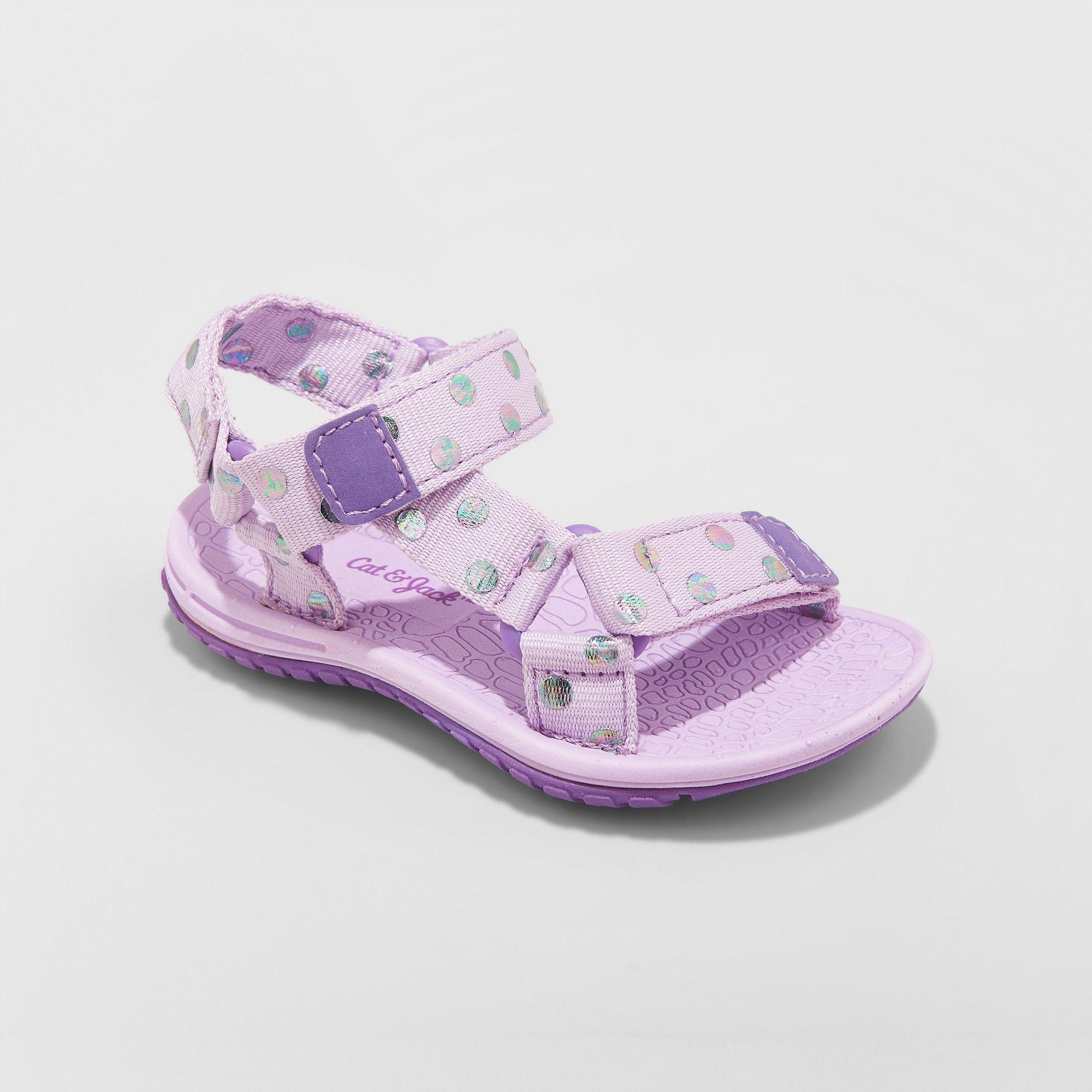 bc88616cc4077 Toddler Girls  Vanya Easy Closure Strap Sport Sandals - Cat   Jack Purple 11