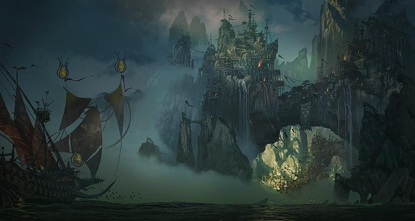 Bilgewater League Of Legends Landscape Illustration Fantasy Landscape