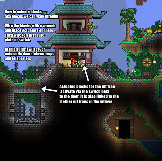 A Guide To Wiring And Base Defense Terraria And Video Games