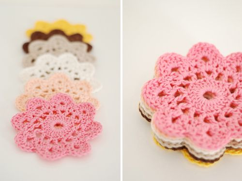 How-To: Crochet Flower Coasters