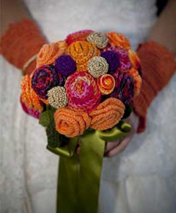 crochet wedding bouquet bridal bouquets from knitted search diy wedding 3191