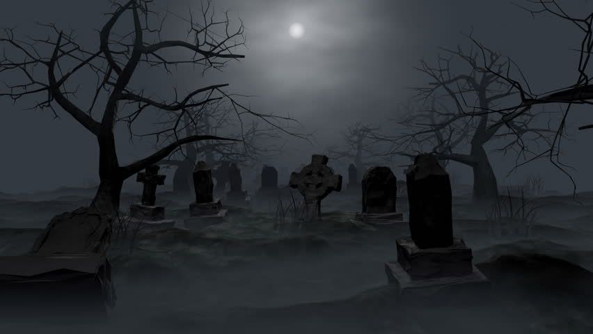 A Creepy Graveyard Halloween Background Scene With Graves Evil Pumpkins And Spooky Moonlit Sky De Gothic Photography Cemeteries Photography Haunted Graveyard