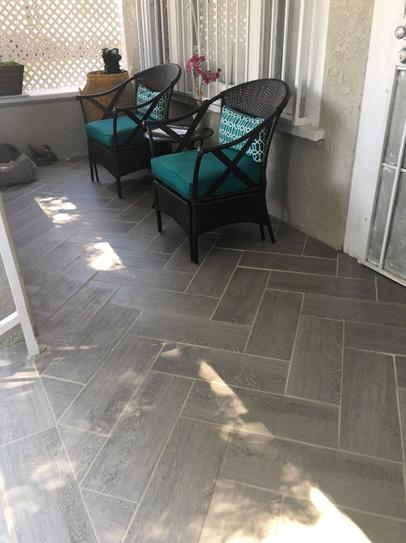 Trafficmaster Glenwood Fog 7 In X 20 In Ceramic Floor And Wall Tile 10 89 Sq Ft Case Gw09720hd1p2 The Outdoor Tile Patio Porch Tile Patio Flooring