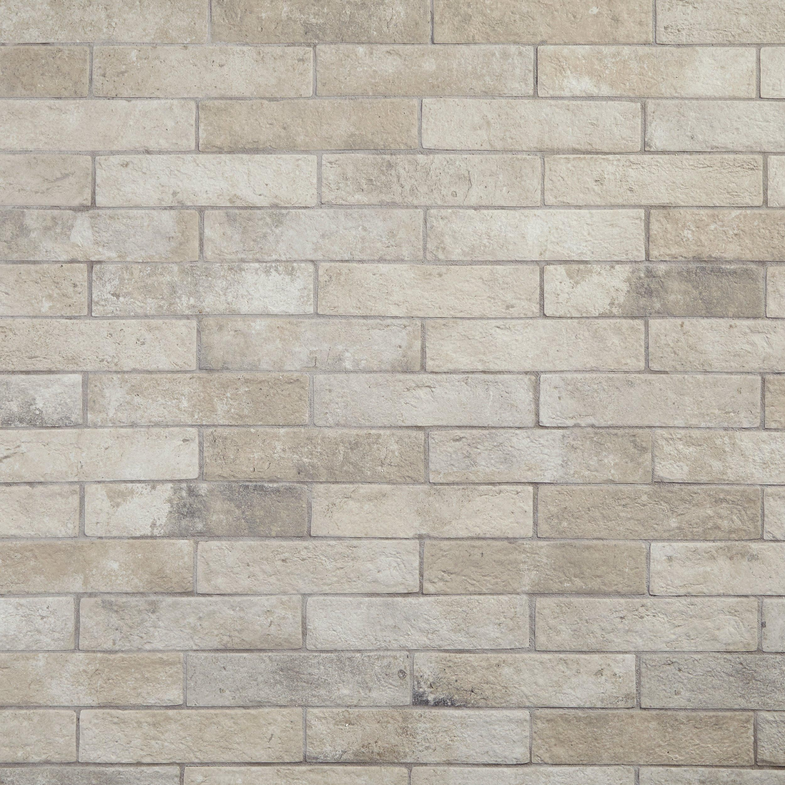 Alta Crema Brick Porcelain Tile In 2019 Products