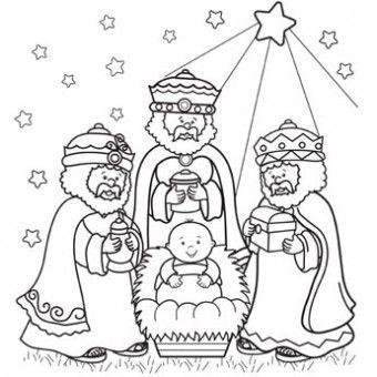 Three Kings Day Coloring Pages - Los Tres Reyes Magos | Christmas ... | 340x340