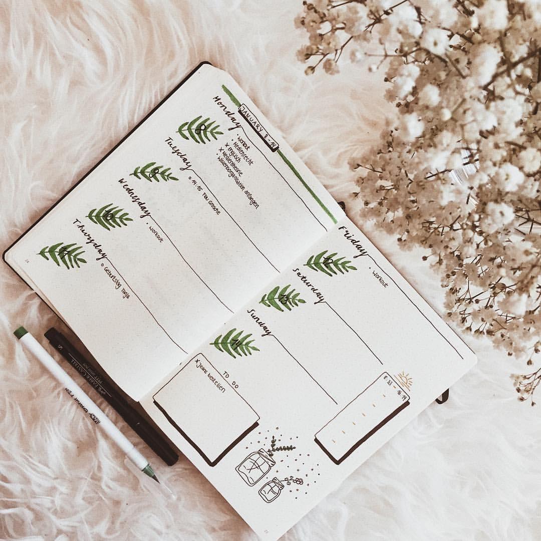 Bullet Journal Weekly Setup, Weekly Spread, Bullet Journal 2018, Bullet Journal, Doodles, Bullet Journal Theme - Frederika (@bujowithfia) on Instagram #halloweenbulletjournal