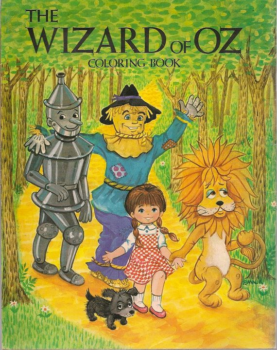 vintage kids book wizard of oz coloring book by hazelcatkins 4000
