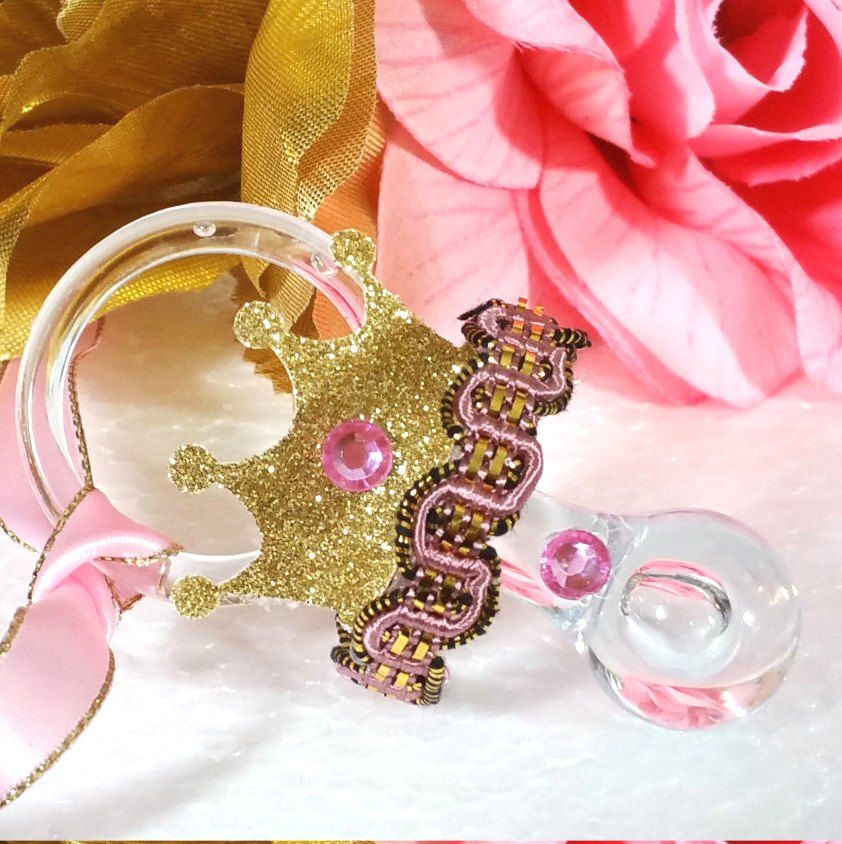 12 NEW Princess Baby Shower Necklace Favors/ Pink U0026 Gold Baby Shower Favors  / Royal