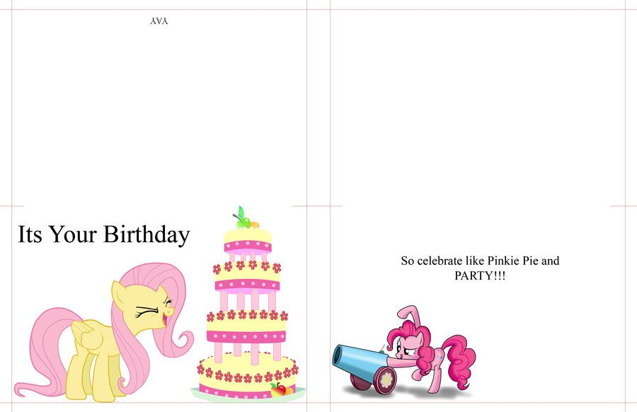 My Little Pony Birthday Card by moonprincesslunadeviantart on - free birthday card printable templates