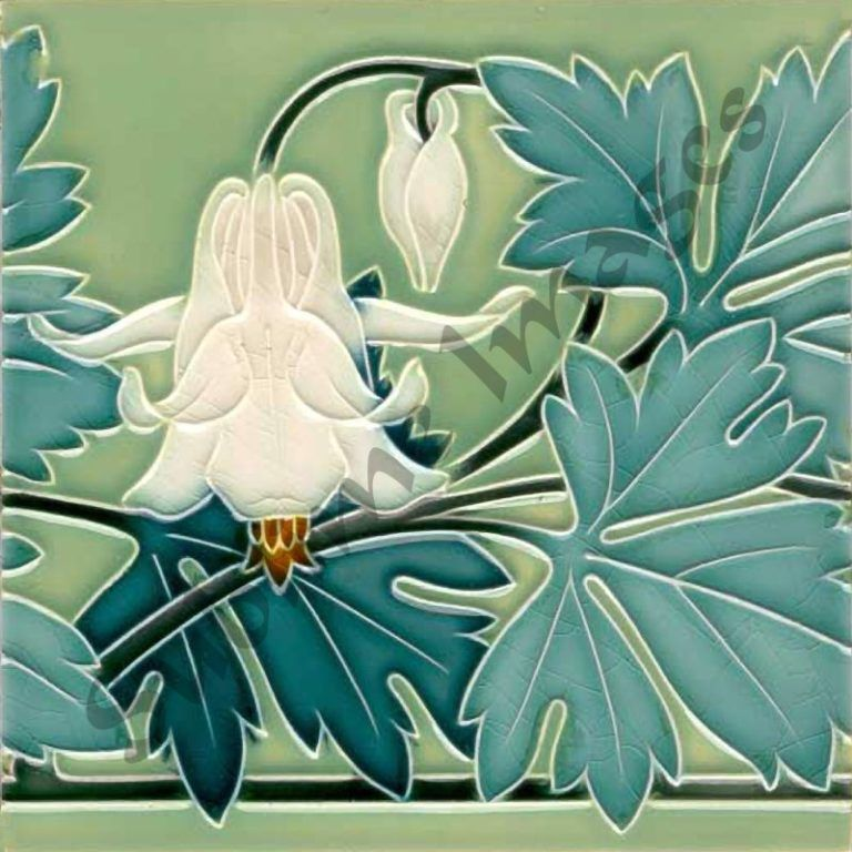 AN028 – Art Nouveau Kitchen Tiles – Reproduction Ceramic or Glass Tiles