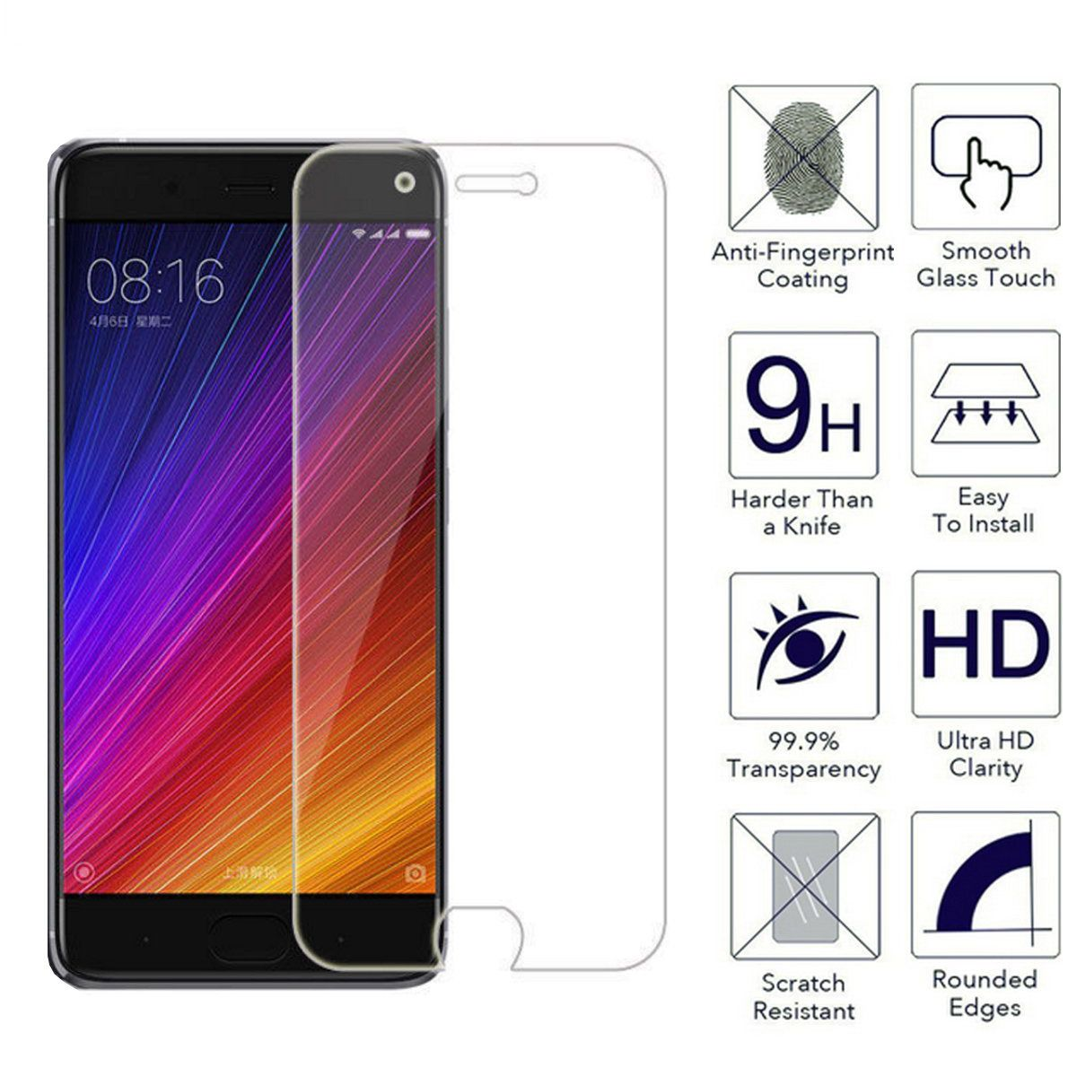 3 lot tempered glass for xiaomi mi 5c 5s plus 5 4s 4c 4i 4