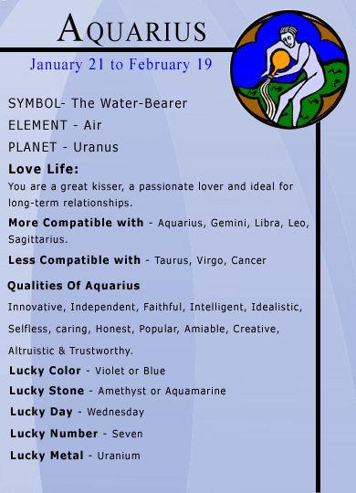 aquarius astrological information