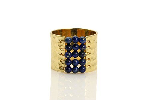 Lapis ringhammered ringwide ringhandmade ringgold filled ringgemstone ringbeaded ringantique ringhandmade -- See this great product.
