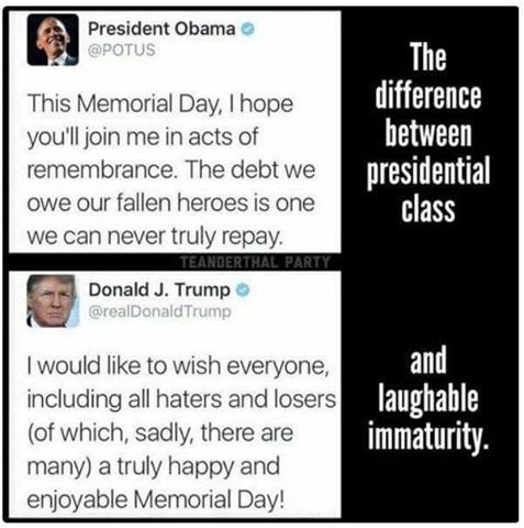 Class vs Trash! Thank you President Obama. We miss you terribly!