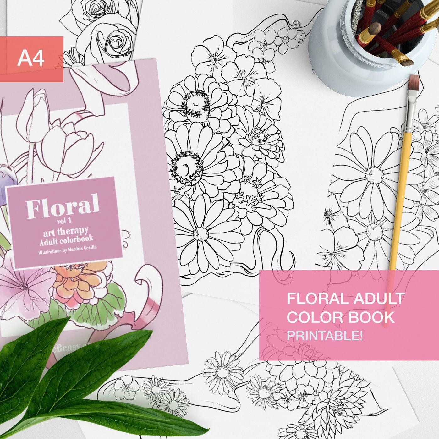 Floral Adult Coloring Book Pdf