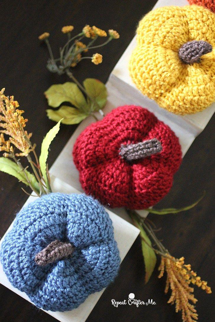 Caron Harvest Crochet Pumpkins | crochet patterns | Pinterest ...