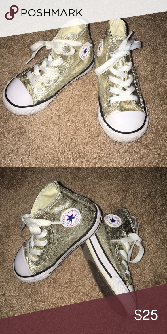 abf333153a81 Gold high top converse size 7 Good high top converse toddler size 7 Converse  Shoes Sneakers