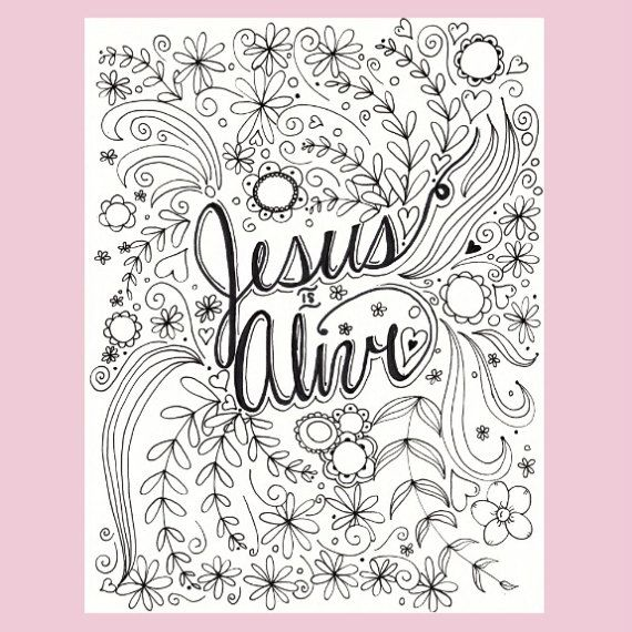 Jesus Is Alive Coloring Page Easter Coloring By Fourthavepenandink Easter Coloring Pages Christian Coloring Coloring Pages