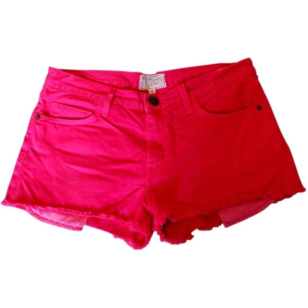 Pre-owned CURRENT ELLIOTT SHORTS ($110) ❤ liked on Polyvore featuring shorts, current elliott shorts and pink shorts