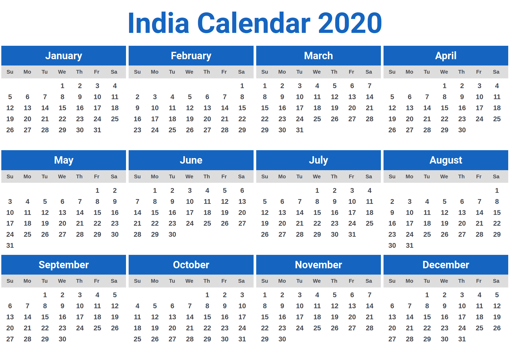 Calendar 2020 India Download Image for India Calendar 2020 | Download | Calendar 2020, Calendar