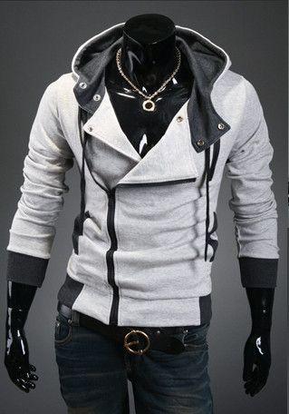 2016 Best Selling Men's Fashion Casual Slim Cardigan Assassins Creed Hoodies Sweatshirt Outerwear Jackets M-XXXXXXL