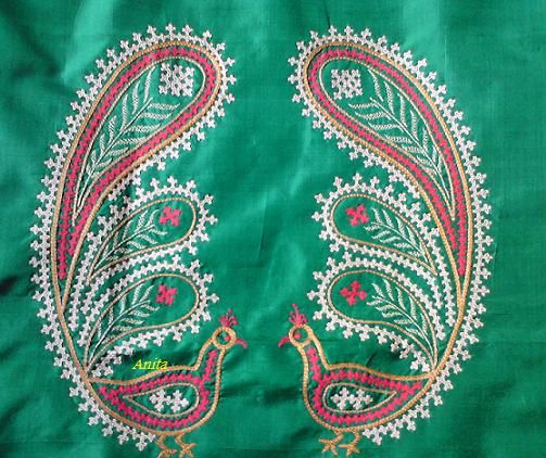 Kutch Work Peacocks Only In Color Embroidery Pinterest