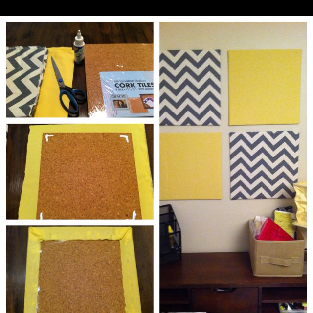 Transform your space with decorative cork boards its CHEAP AND EASY  gettin crafty  Office