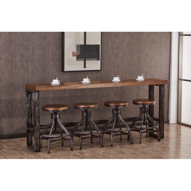 Wellman Pub Table Solid Wood Dining Set Pub Table Bar Table
