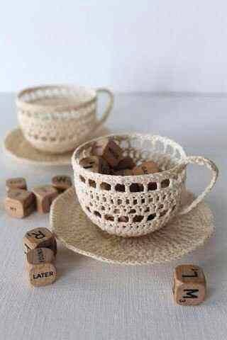 "My latest find on Trusper may blow you away: ""Crocheted Cups Ideas For Decorations!! """