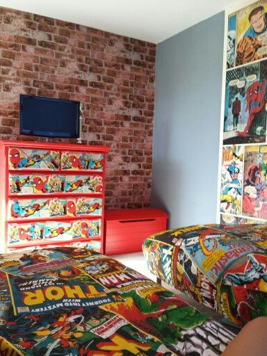 marvel avengers bedroom u003c u003c u003c love love love this the whole vintage rh pinterest com Marvel Teenage Room Design Marvel Avengers Room Decor
