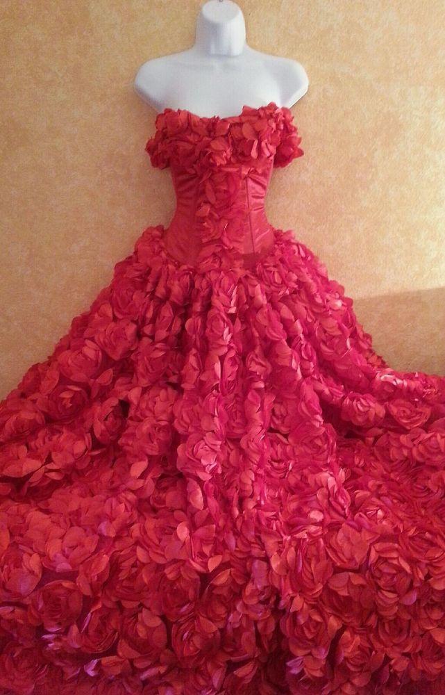 Scarlet Rose Goddess East Indian Inspired Strapless Bridal Wedding ...