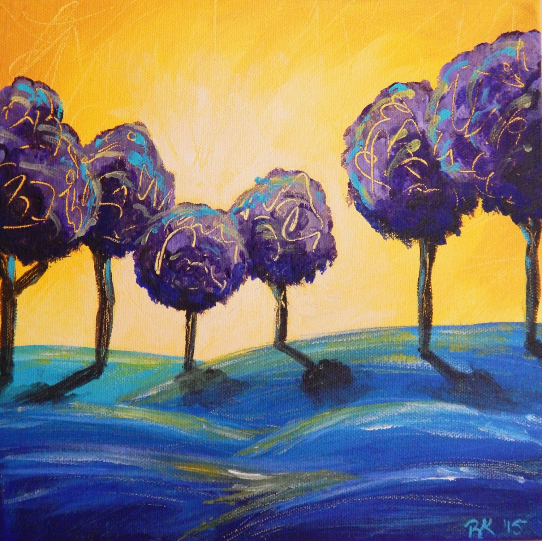 purple abstract art etsy