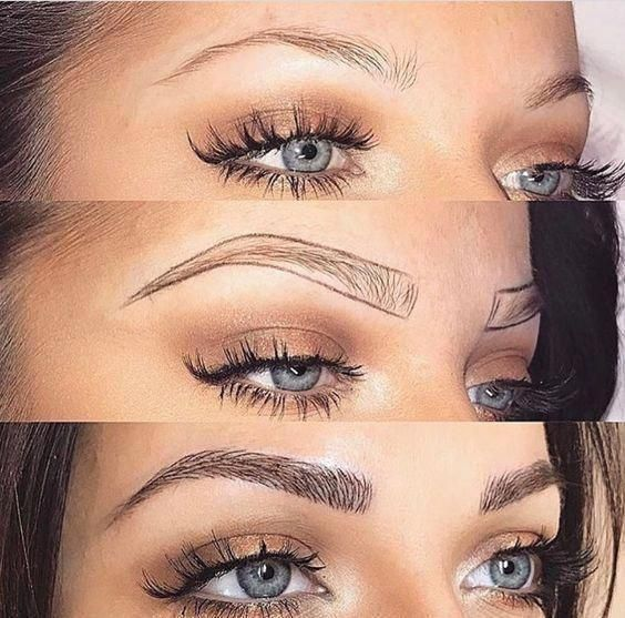 Microblading brows before after   microblading brows ...